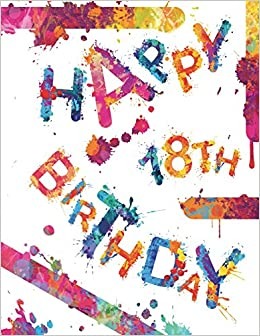 Happy 18th Birthday Cool Book To Use As Notebook Personal Journal