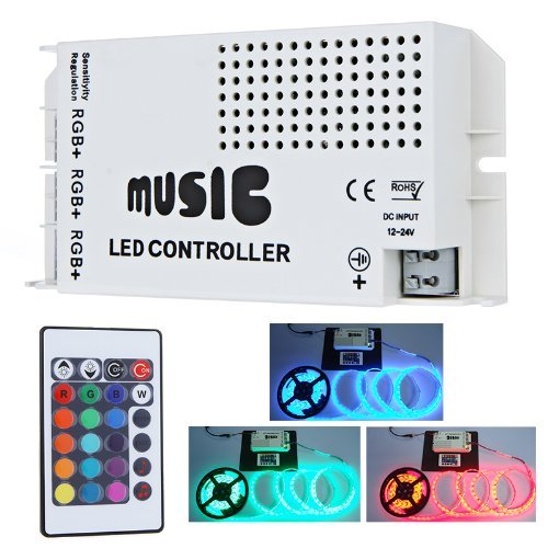 LEDER-IR Music Controller 3 Ports With Remote for Color Changing LEDs ()
