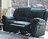Cheap Promenade Collection Black Leather Loveseat MPN: 7575L