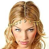 Missgrace Hair Chain Jewelry Headband Head Hair Band Tassels Pearl