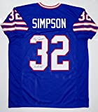 O. J. Simpson Autographed Blue Pro Style Jersey W/ HOF- JSA Witnessed Auth