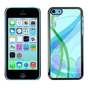 El Suave Translucence - Metal de aluminio y de plástico duro Caja del teléfono - Negro - iPhone 5C