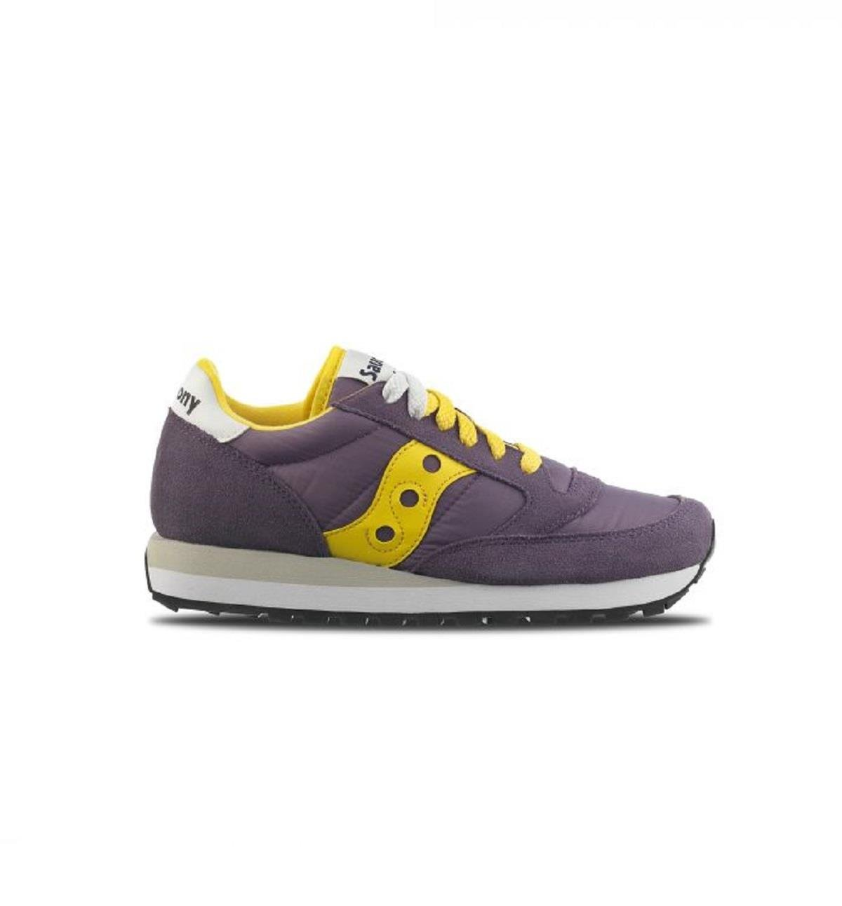 sneakers jazz donna saucony 1044/424 colore giallo viola. Nuova collezione autunno inverno 2017/2018. 5|Cadet/Maize