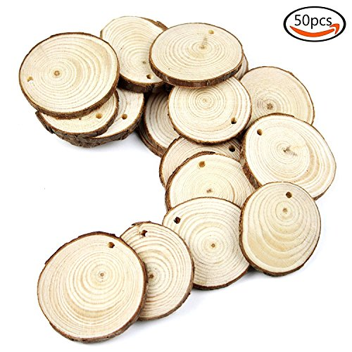 Goodlucky Unfinished Predrilled Natural Slices product image