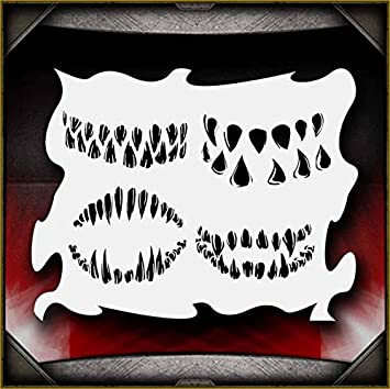 Amazon com: Monster Mouths AirSick Airbrush Stencil Template