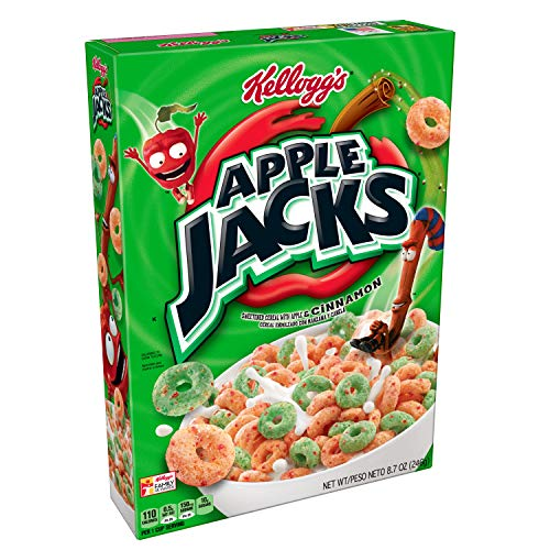 Kellogg's Apple Jacks, Breakfast Cereal, Original, Low Fat, 8.7 oz Box ()