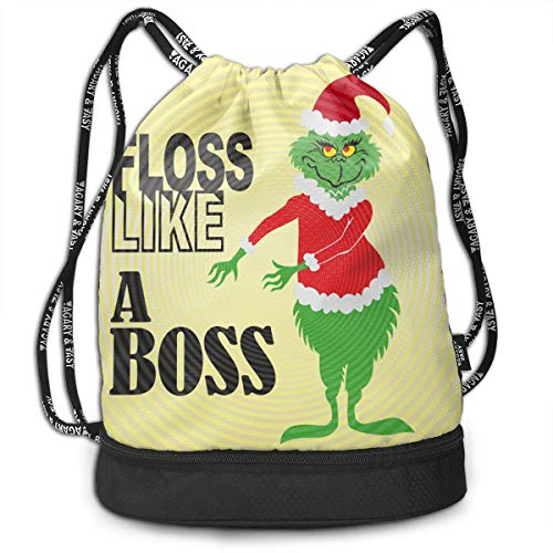 PSnsnX Backpack The Grinch Stole Christmas Sports Gym Cinch Sack Bag For Girls Boys Women Gymsack Sackpack