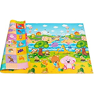 Baby-Care-Play-Mat-Foam-Floor-Gym-Non-Toxic-Non-Slip-Reversible-Waterproof-Pingko-and-Friends-Large