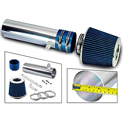 Rtunes Racing Short Ram Air Intake Kit + Filter Combo BLUE Compatible For 94-96 Buick Roadmaster / 94-96 Cadillac Fleetwood / 94-96 Chevy Impala SS/Caprice 4.3L 5.7L V8: Automotive