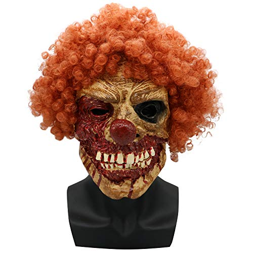 Halloween Mask Horror Brown Grimace Zombie Walking Dead