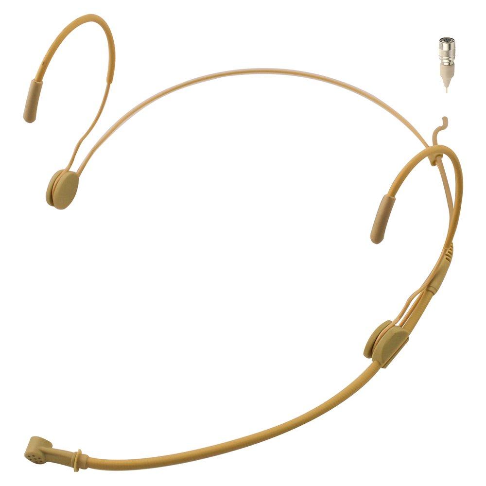 JK MIC-J 069 Earhook Headworn Headset Unidirectional Microphone Compatible with Audio Technica Wireless Bodypack Transmitter - Hirose 4Pin Plug by J K