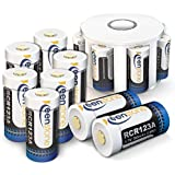 Keenstone 3.7V 700mAh Li-ion Rechargeable RCR123A Battery 12 PCS with 8 Slot Charger for Arlo Security Cameras