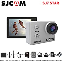 Sport Action Camera, Newest Original SJCAM SJ7 Star 1080P 4K Action Cam Waterproof Sport Video Camera with Mounting Accessories, Silver