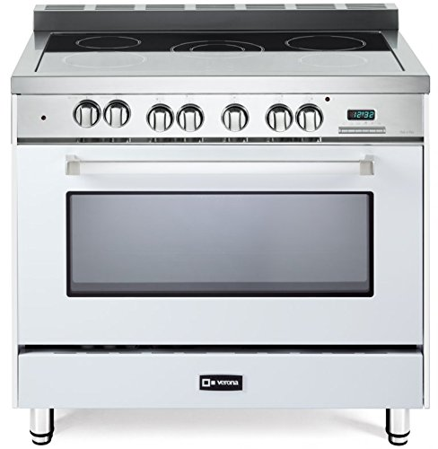 Verona VEFSEE365W 36″ All Electric Range Single Oven Convection True White