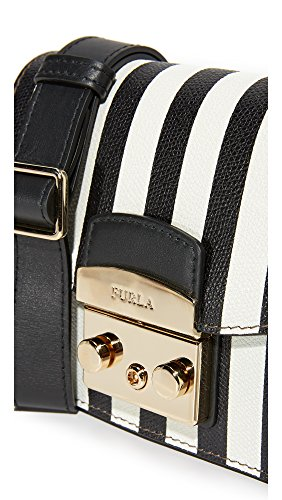 Body Bag Furla Cross Metropolis Petalo Onyx Women's Mini wfwqIOna7