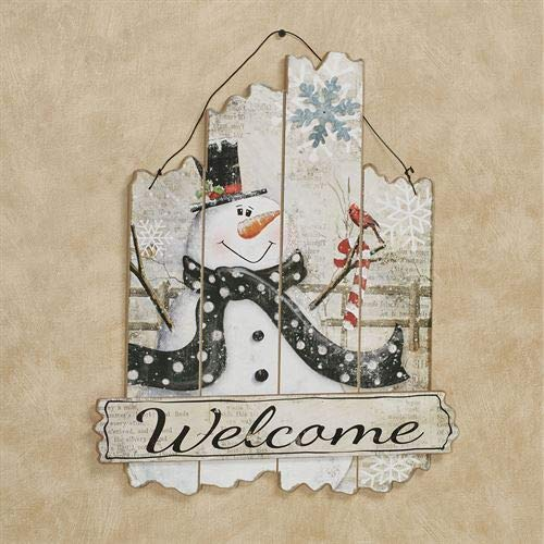 (youngs Snowman Welcome Wall Art Plaque Multi Cool)