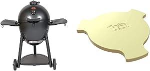 Char-Griller E16620 Akorn Kamado Charcoal Grill, Graphite & 6201 AKORN Smokin Ceramic Smoking Stone, Ivory