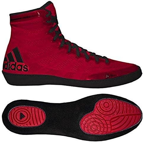 Adidas AdiZero Varner Wrestling Shoes - Red/Black - 11