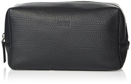 BOSS Hugo Boss Men's Victorian Leather Washbag/dob Kit Accessory, -black, One Size by Hugo Boss