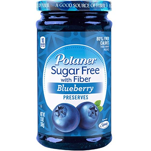 (Polaner Sugar Free with Fiber, Blueberry Preserves, 13)