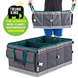 SUV Car Trunk Organizer: Trunk King (TM) Store Anything, Save Time - Waterproof, Rigid, Strong, Multipurpose - The Ultimate Trunk Organizer for Cars SUVs Trucks - Only From Flag & Eagle