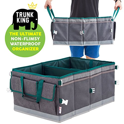 - SUV Car Trunk Organizer: Trunk King (TM) Store Anything, Save Time - Waterproof, Rigid, Strong, Multipurpose - The Ultimate Trunk Organizer for Cars SUVs Trucks - Only From Flag & Eagle