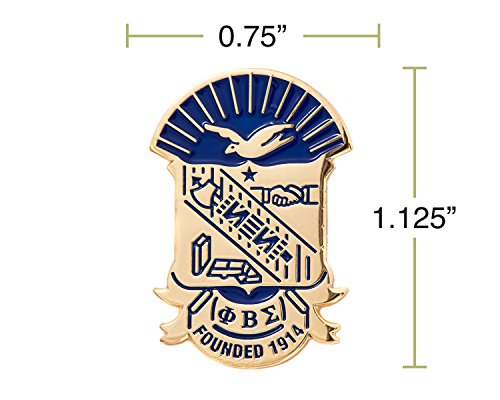 Desert Cactus Phi Beta Sigma Fraternity Crest Lapel Pin Enamel Greek Formal Wear Blazer Jacket (Gold Color Lapel Pin) by Desert Cactus (Image #1)
