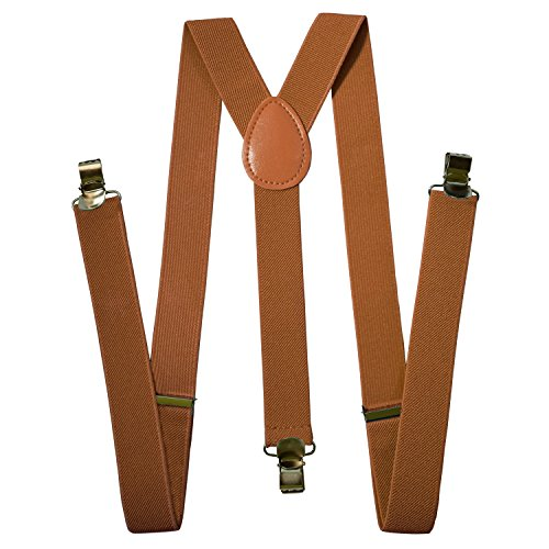Home+%26+Lounge+Suspenders+For+Men+-+Adjustable+Solid+Straight+Clip+-+5%2B+Color+Option+-+Great+Fit+with+Mens+Outfit+%28Brown+Rust%29