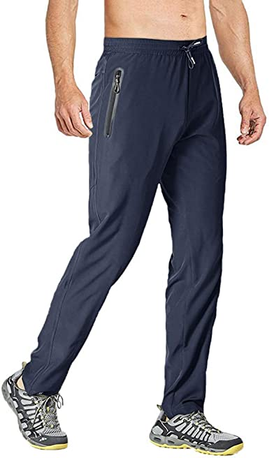 Men/'s Casual Pants Workout Fitness Gym Training Pants Dri fit Sports Soft Loose