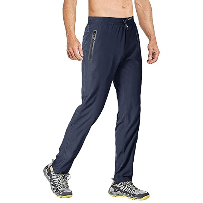 TBMPOY Mens Outdoor Lightweight Hiking Mountain Pants Running Active Jogger Pants