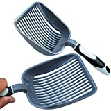 "Sifter w/ Deep Shovel Litter Scoop - Designed by Cat Owners - Durable ABS Plastic Litter Scoop, Scooper."" Solid Strong Handle. By iPrimio. Patented."
