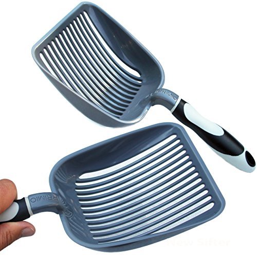 Sifter w/ Deep Shovel - Designed by Cat Owners - Odor and Antimircrobial Durable ABS Plastic.