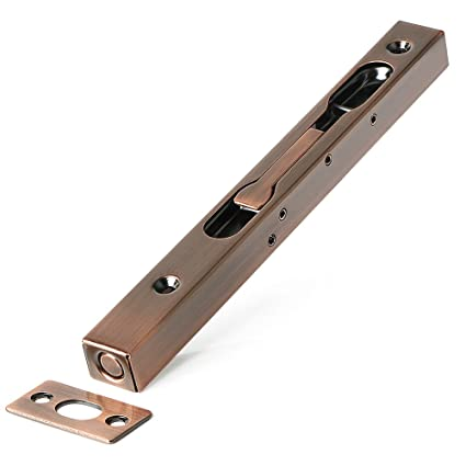 Alise 8 Inch Flush Bolt Gate Latch Double Door Slide Bolt Locksus304 Stainless Steel Red Antique Copper