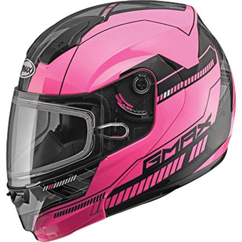 GMAX MD-04 Adult Docket Snowmobile Helmet - Hi-Vis Pink/Black / ()