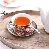 LIFVER Tea cup and Saucer Set, Vintage Royal
