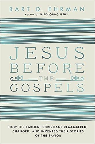 Book Jesus Before the Gospels