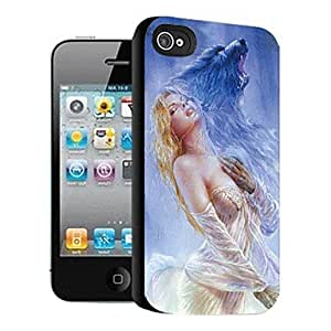 YULIN Beauty and Beast Pattern 3D Effect Case for iPhone4/4S