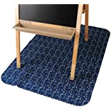 """Constructive Playthings 42"""" x 59"""" Machine Washable/Dryable Art Easel Floor Mat with Non-Slip Waterproof Backing"""