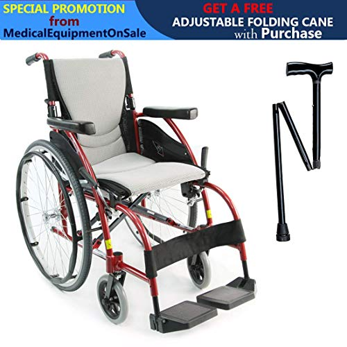 Karman S-Ergo 105 Lightweight Ergonomic Wheelchair, Seat Siz