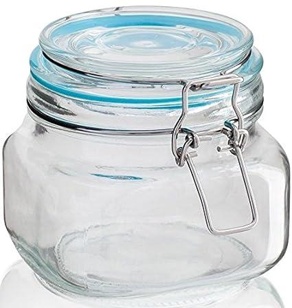 Frascos de vidrio Sabichi con cierre hermético para almacenamiento ...