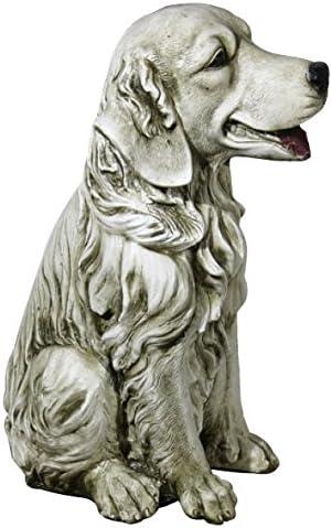 DEGARDEN Figura de Perro Labrador Decorativa para Jardín o Exterior Hecho de hormigón-Piedra Peso 7 kg | Figura Perro Grande de 35cm. de Alto, Color Ceniza: Amazon.es: Jardín