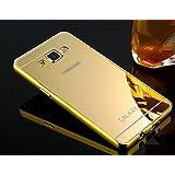 Kapa Luxury Mirror Effect Acrylic back + Metal Bumper Case Cover for Samsung Galaxy A8 - Gold