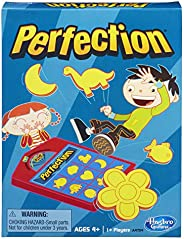 Hasbro Gaming Perfection Game Popping Shapes and Pieces Game for Kids Ages 4 and Up