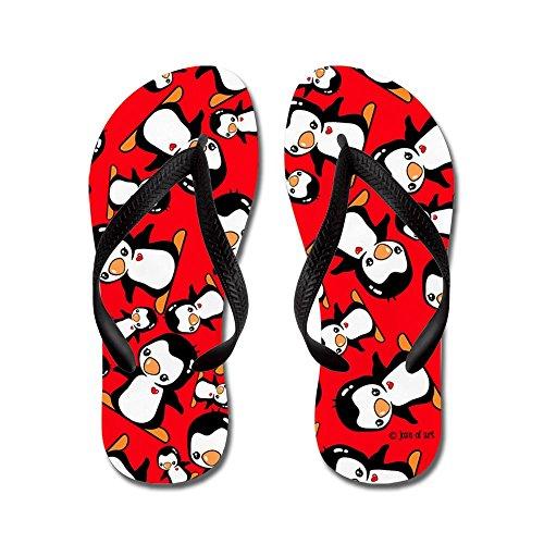 Cafepress Pinguïns Flip Flops - Flip Flops, Grappige String Sandalen, Strand Sandalen Zwart