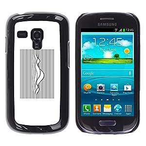 iBinBang / Funda Carcasa Cover Skin Case - Music Sound Waves White Black - Samsung Galaxy S3 MINI NOT REGULAR! I8190 I8190N