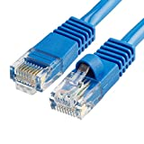 CMPLE Cat5e Network Ethernet Cable - Computer LAN Cable 1Gbps - 350 MHz, Gold Plated RJ45 Connectors - 15 Feet Blue