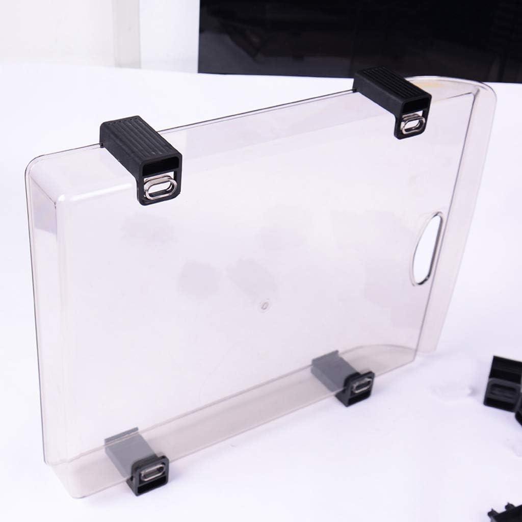 XuYuanjiaShop Side Load-Briefablage B/ürobedarf Akten-Halter DREI-Schicht-Dokument Briefpapier Tray Desktop-transparenter Plastikkorb Information Storage Box Datei Ordner-Ablagesysteme