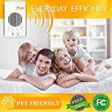 Pest Control, Ultrasonic Repeller, Electronic Plug in, Best Repellent Get Rid Of - Rodents, Mice, Rats, Roaches, Spiders, Bed Bugs, Insects, Flies & Fleas. 6 in 1 Night Light, Non-toxic, Pet Safe!