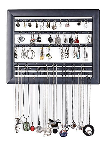 Kashay - Black Jewelry Outside The Box - Contemporary Hanging Organizer Display Frame