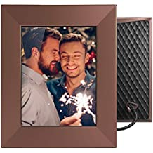 NIXPLAY Iris WiFi Smart Digital Photo Frame 8 Inch W08E Bronze. Share Photos Via Mobile App or E-Mail. IPS Display Electronic Picture Frame with Sound Sensor